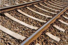 Close up of railway tracks Stock Image