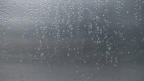 Close up rain drops on scratched aluminium metal sheet. stock images