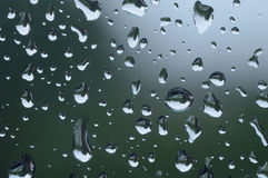 Close up of rain drops on a window Stock Images