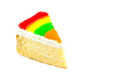 Close up rainbow cake Royalty Free Stock Photo