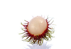 Close up of Rambutan. Fruits on white background royalty free stock photo