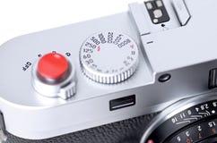 Close up of rangefinder camera vector illustration