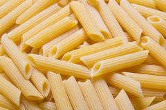 Close up of raw italian pasta Stock Images