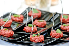 Close-up Raw meat gourmet close up Royalty Free Stock Image