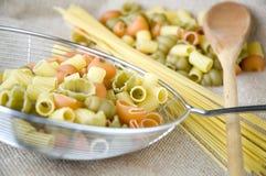 Close up raw pasta Stock Photography