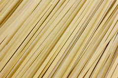 Close up of raw pasta, Green Spanich fettuccine Stock Photography