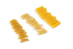 Close up of raw pasta Royalty Free Stock Photo