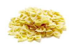 Close-up of raw pasta Royalty Free Stock Photo