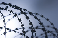 Close-Up Of Razor Wire Stock Photos