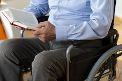 Close-up of reading the book Royalty Free Stock Photos