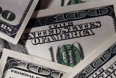 Close up Real US Dollar Bills Stock Photography