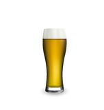 Close up realistic glass of beer  on white background Stock Photo