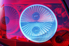 Close-up rear light. Close-up of parts of a new car Stock Images