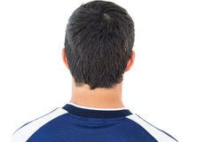 Close up rear view football player Stock Image