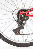 Close up of rear wheel bicycle Stock Photography