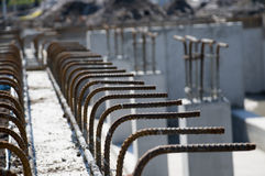 Close up of Rebar Royalty Free Stock Photo