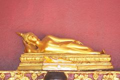 Reclining Buddha image,including Pang please Asurintrahoo or reclining posture stock photo