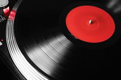Record player playing vinyl Royalty Free Stock Image