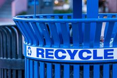 Close Up of a Recycling Bin royalty free stock photo