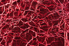 Close up of red aluminum foil Royalty Free Stock Photos