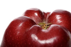 Close-up of red apple in white background Stock Photos