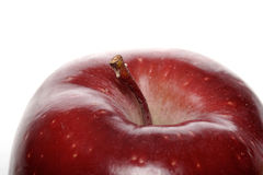 Close-up of red apple on white background Stock Images