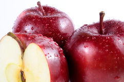 Close up red apples. Close up fresh red apples stock photography