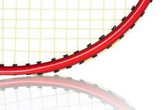 Badminton racket reflection Stock Photo
