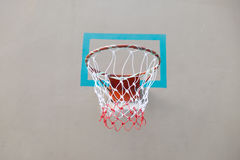 Close up red basketball hoop Stock Images