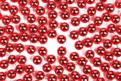 Close up of red beads. Stock Image