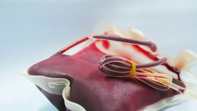 Red blood  bag Royalty Free Stock Photo