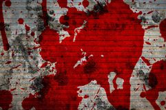 Red blood on cement wall texture. Close up red blood on cement wall texture Stock Image