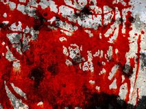 Red blood on cement wall texture. Close up red blood on cement wall texture Royalty Free Stock Image