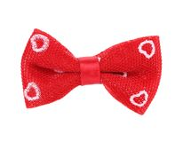 Close up of red bow tie. Stock Photos