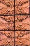 Close up red brick with patterns Royalty Free Stock Photos