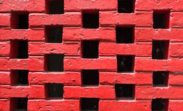 Close up of red brick wall Royalty Free Stock Photography