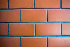Close up Red brick wall for background. Red brick wall close up. it can be usedto background,wallpaper,backdrop,template,screensaver.square and line concept Royalty Free Stock Photos