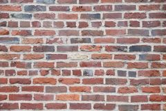 Close up of a red brick wall stock image