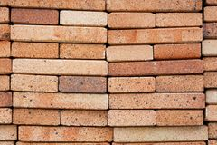 Close up of red bricks Stock Photos