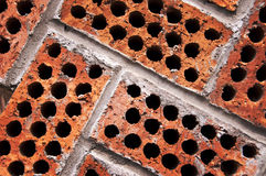 Close up of red bricks stock images