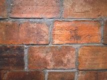 Close up Red brown brick block wall background. Red brown brick block wall background Royalty Free Stock Photography