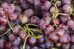 Close up red bunch of grapes. Close up delicious red bunch of grapes royalty free stock photo