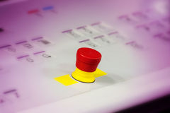 Close Up Red Button on a Device Royalty Free Stock Images