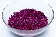 Close-up of red cabbage. And silver salad spoon full frame Stock Photo