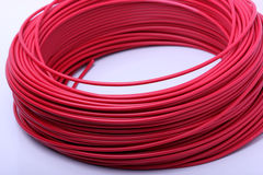 Close up of red cable Royalty Free Stock Image