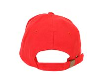 Close up of red cap. Back view. royalty free stock photography