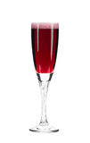 Close up of red champagne glass. Royalty Free Stock Photo
