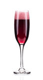 Close up of red champagne glass. Stock Image