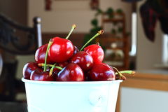 Close up of red cherries Stock Photo