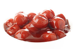 Close up of red cherry Royalty Free Stock Photography